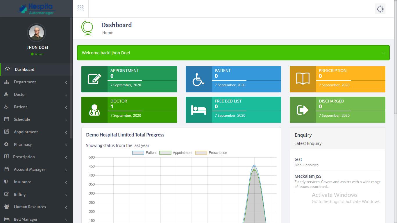 Hospitem – Hospital Management System